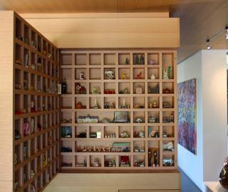 miniature museum in fold out cabinet