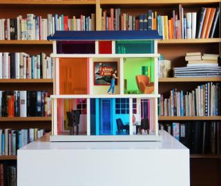 a miniature arthouse inside an art house